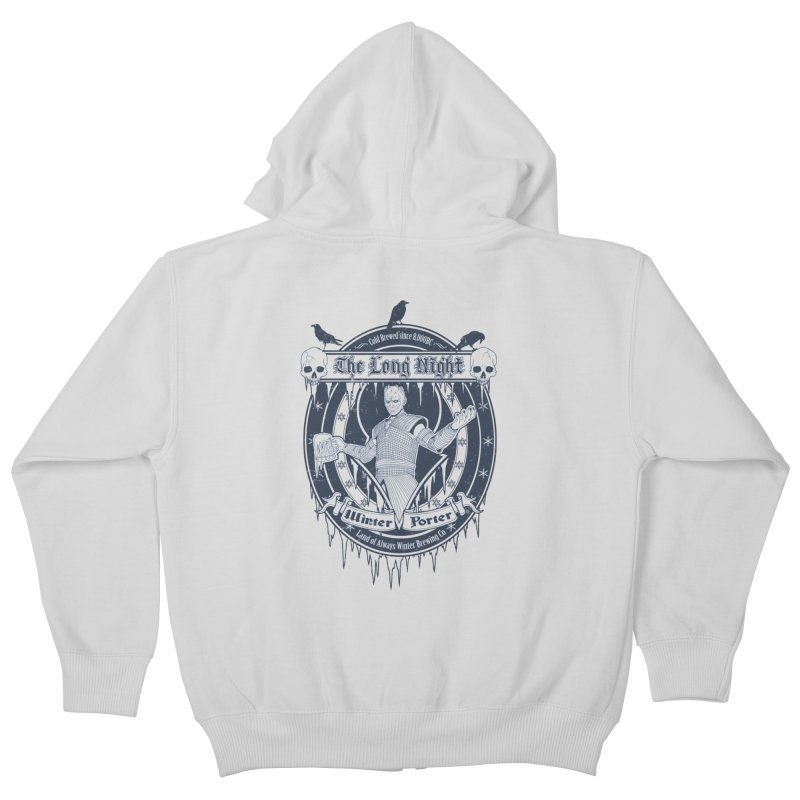 The Long Night Winter Porter Kids Zip-Up Hoody by Den of the Wolf