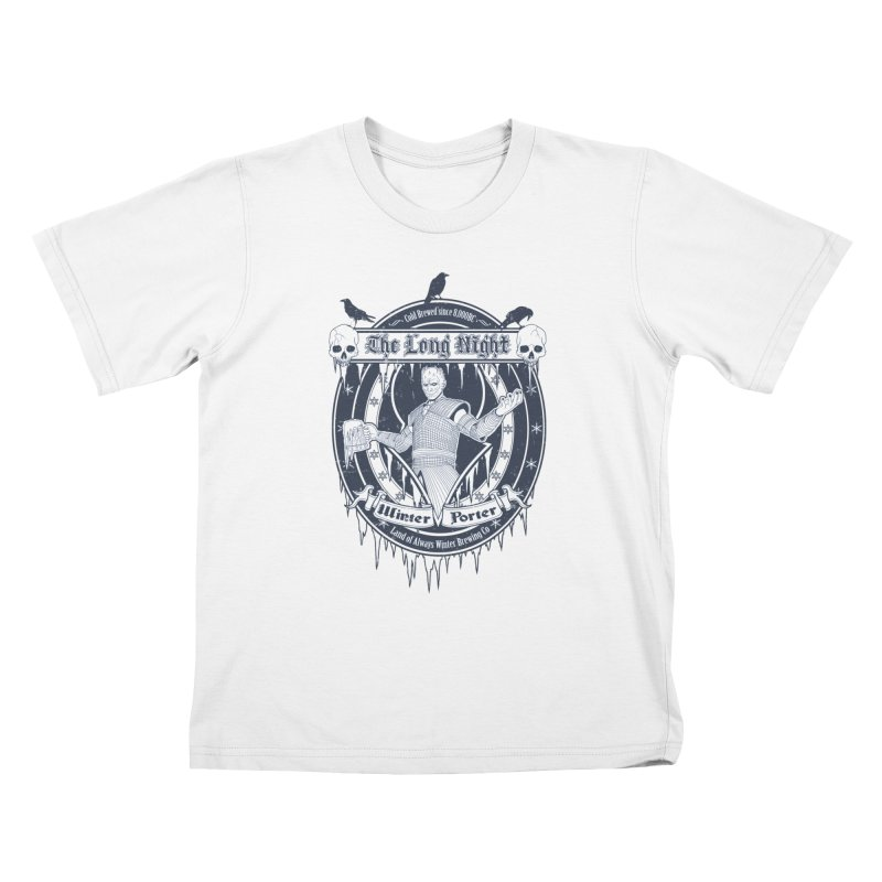 The Long Night Winter Porter Kids T-Shirt by Den of the Wolf