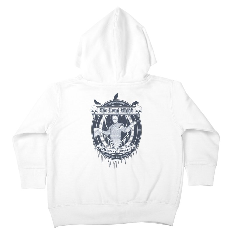 The Long Night Winter Porter Kids Toddler Zip-Up Hoody by Den of the Wolf