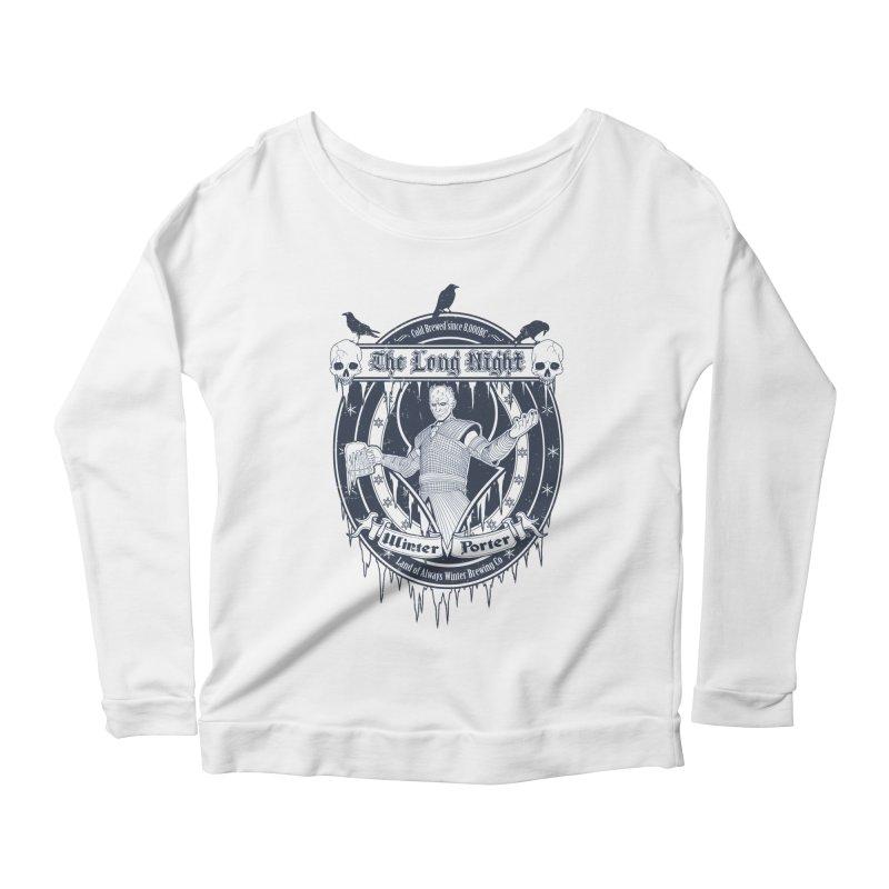 The Long Night Winter Porter Women's Scoop Neck Longsleeve T-Shirt by Den of the Wolf