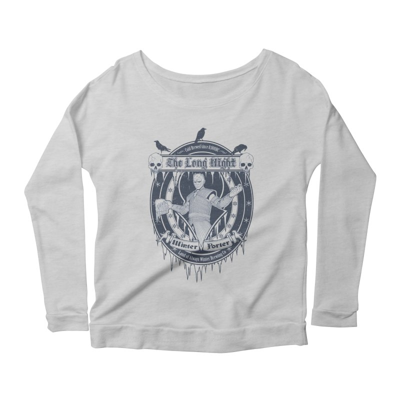 The Long Night Winter Porter Women's Longsleeve Scoopneck  by Den of the Wolf