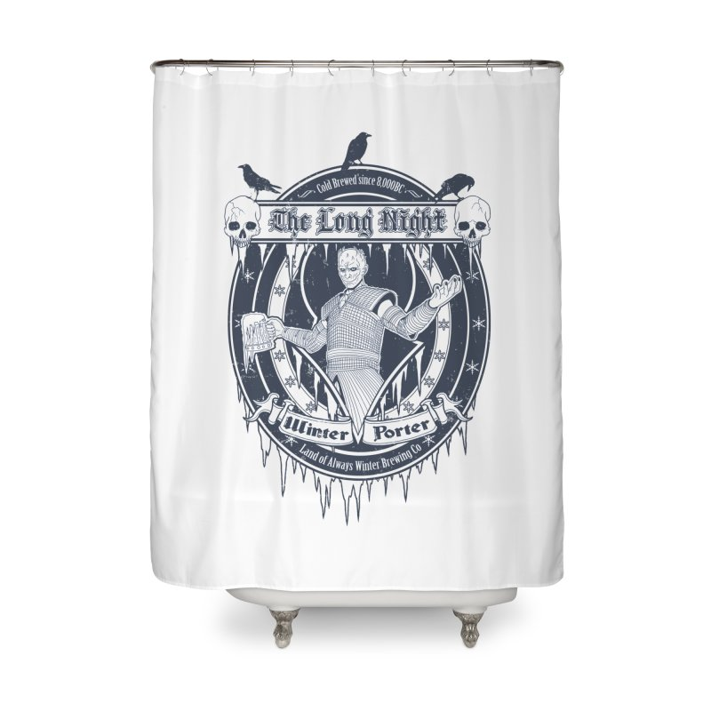 The Long Night Winter Porter Home Shower Curtain by Den of the Wolf