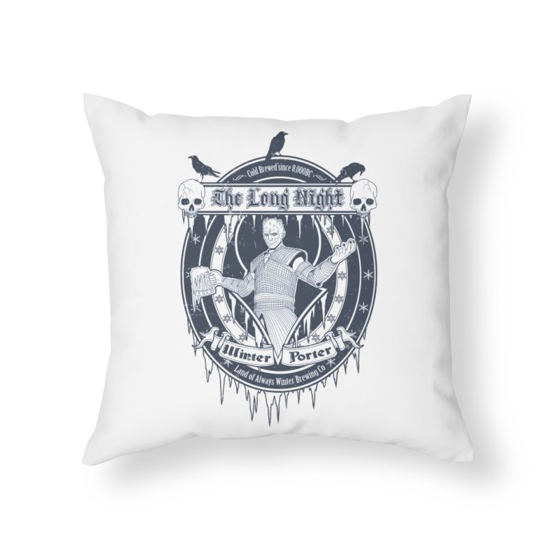 The Long Night Winter Porter Home Throw Pillow by Den of the Wolf