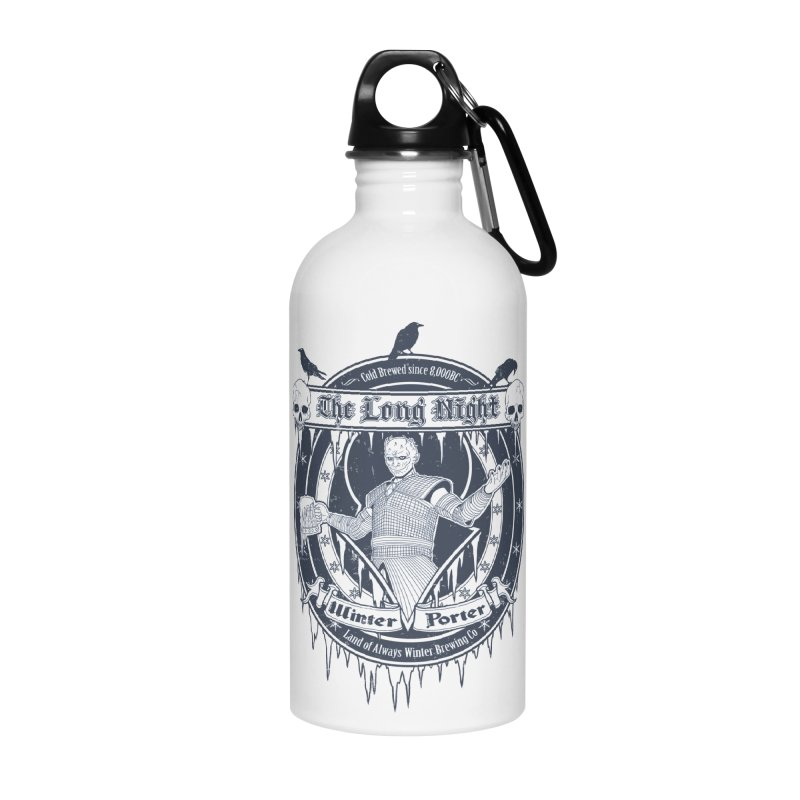 The Long Night Winter Porter Accessories Water Bottle by Den of the Wolf