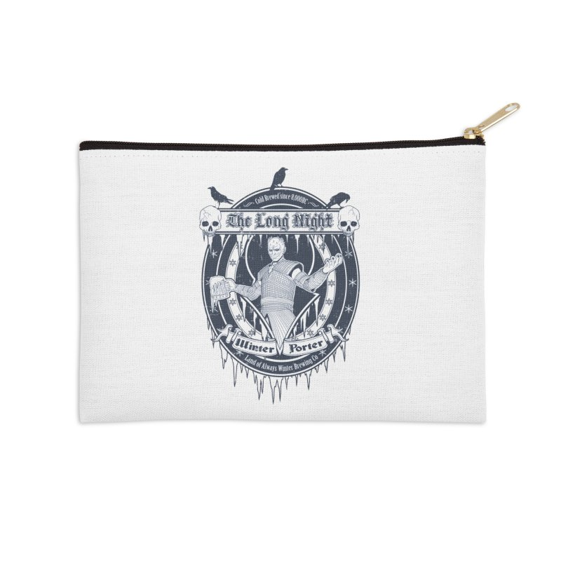 The Long Night Winter Porter Accessories Zip Pouch by Den of the Wolf