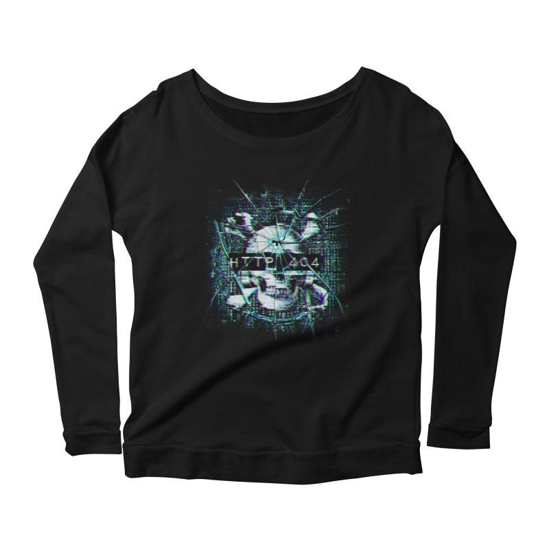 FATAL ERROR Women's Scoop Neck Longsleeve T-Shirt by Den of the Wolf