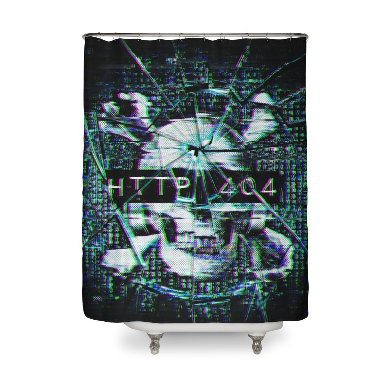 FATAL ERROR Home Shower Curtain by Den of the Wolf
