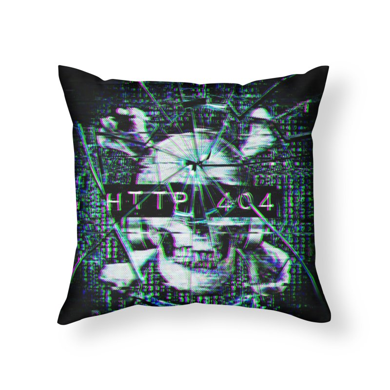 FATAL ERROR Home Throw Pillow by Den of the Wolf