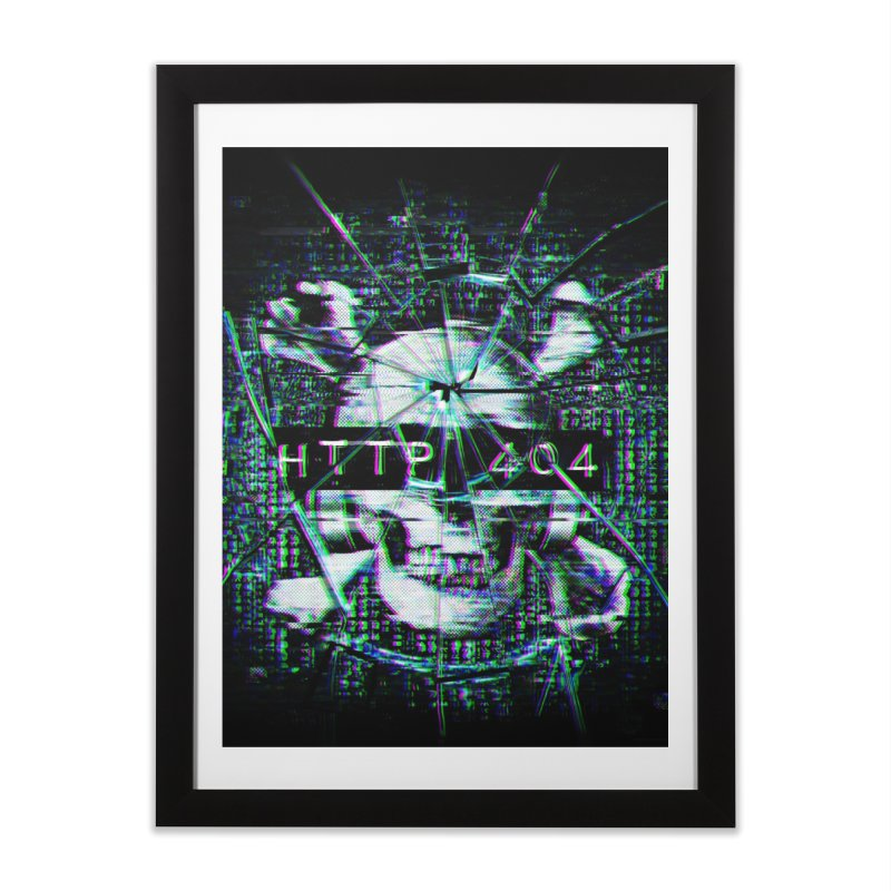 FATAL ERROR Home Framed Fine Art Print by Den of the Wolf