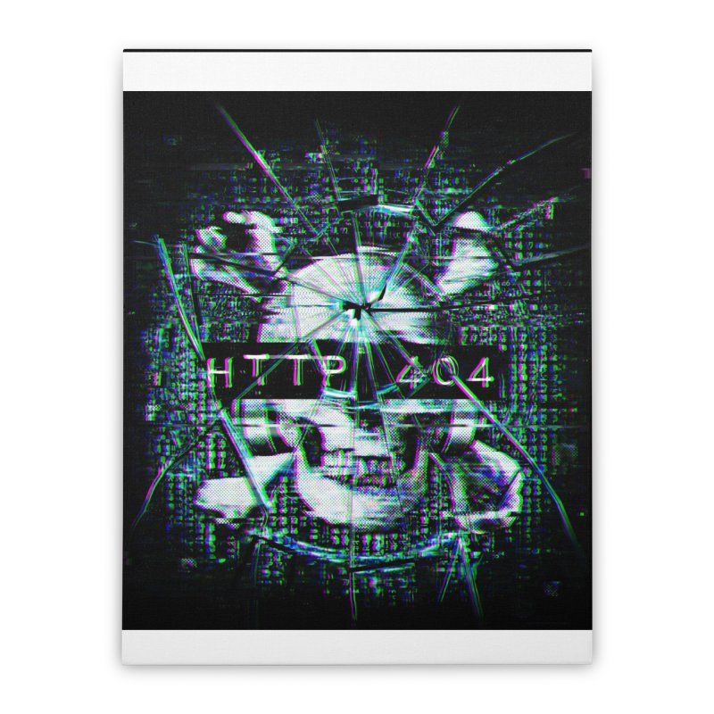 FATAL ERROR Home Stretched Canvas by Den of the Wolf