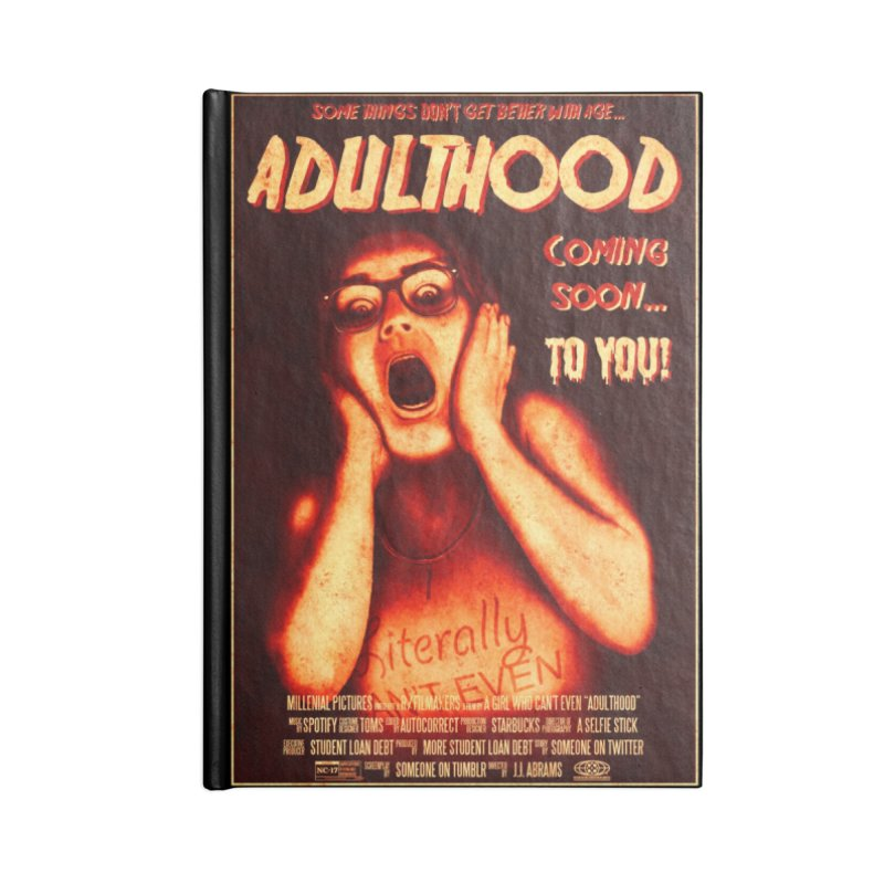 ADULTHOOD Accessories Lined Journal Notebook by Den of the Wolf
