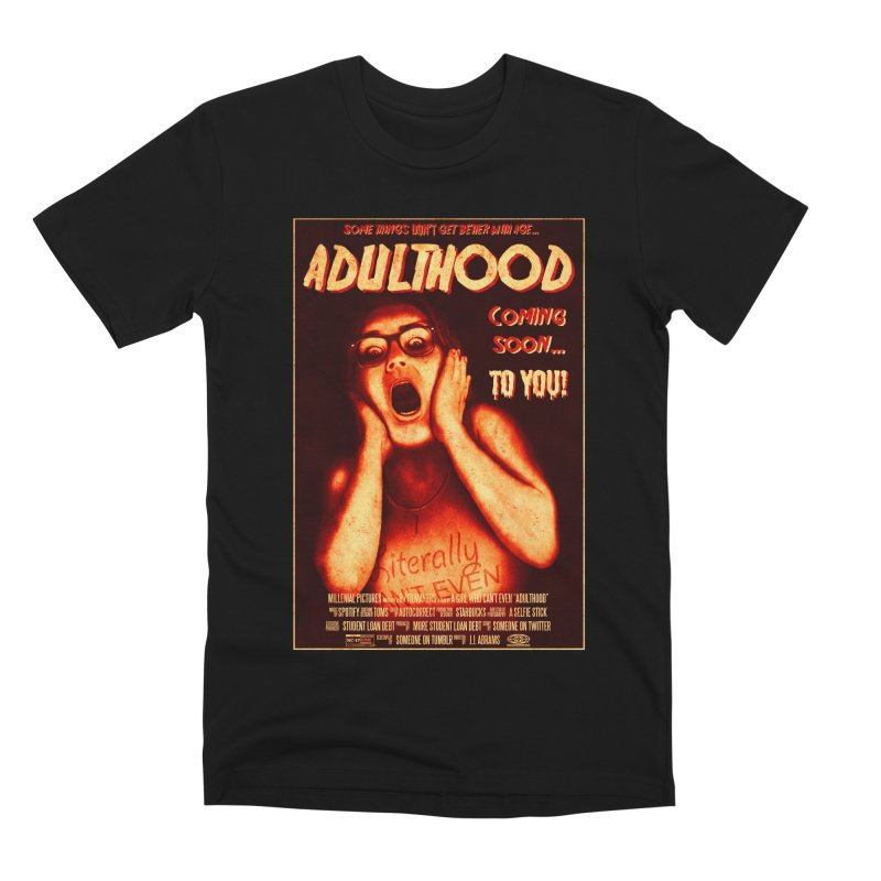 ADULTHOOD Men's Premium T-Shirt by Den of the Wolf