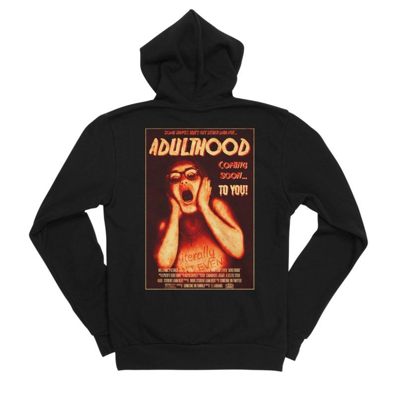ADULTHOOD Men's Sponge Fleece Zip-Up Hoody by Den of the Wolf