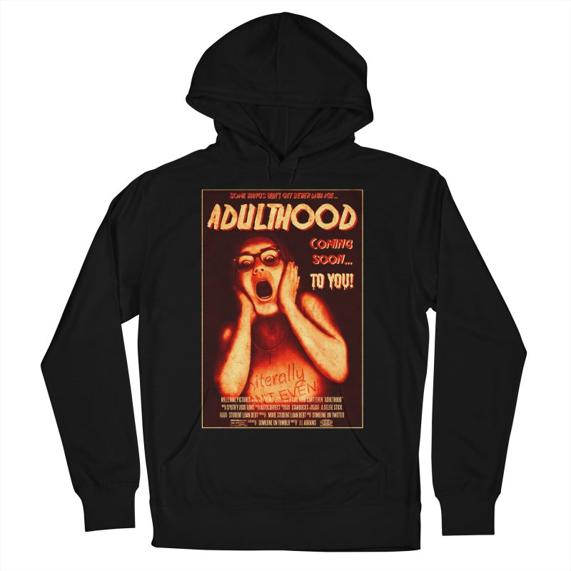 ADULTHOOD Women's French Terry Pullover Hoody by Den of the Wolf