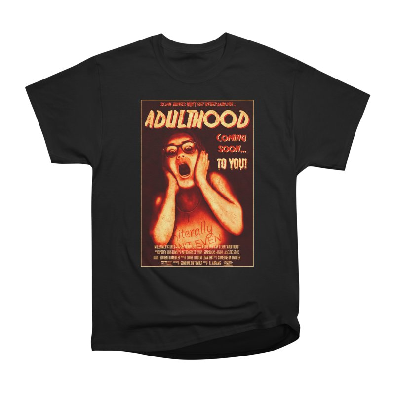 ADULTHOOD Men's Heavyweight T-Shirt by Den of the Wolf
