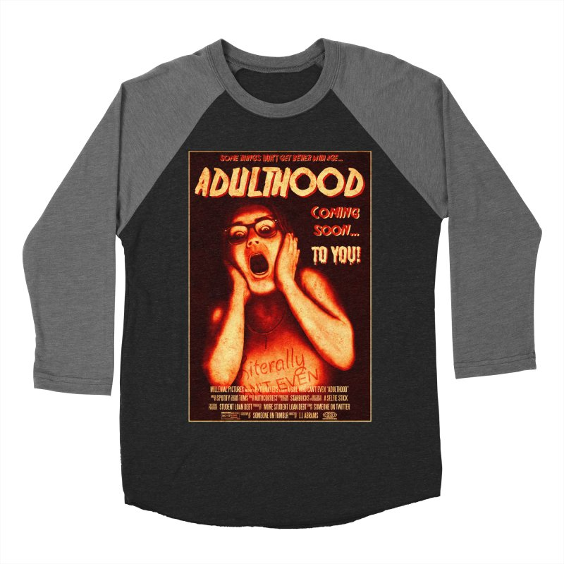 ADULTHOOD Women's Baseball Triblend Longsleeve T-Shirt by Den of the Wolf
