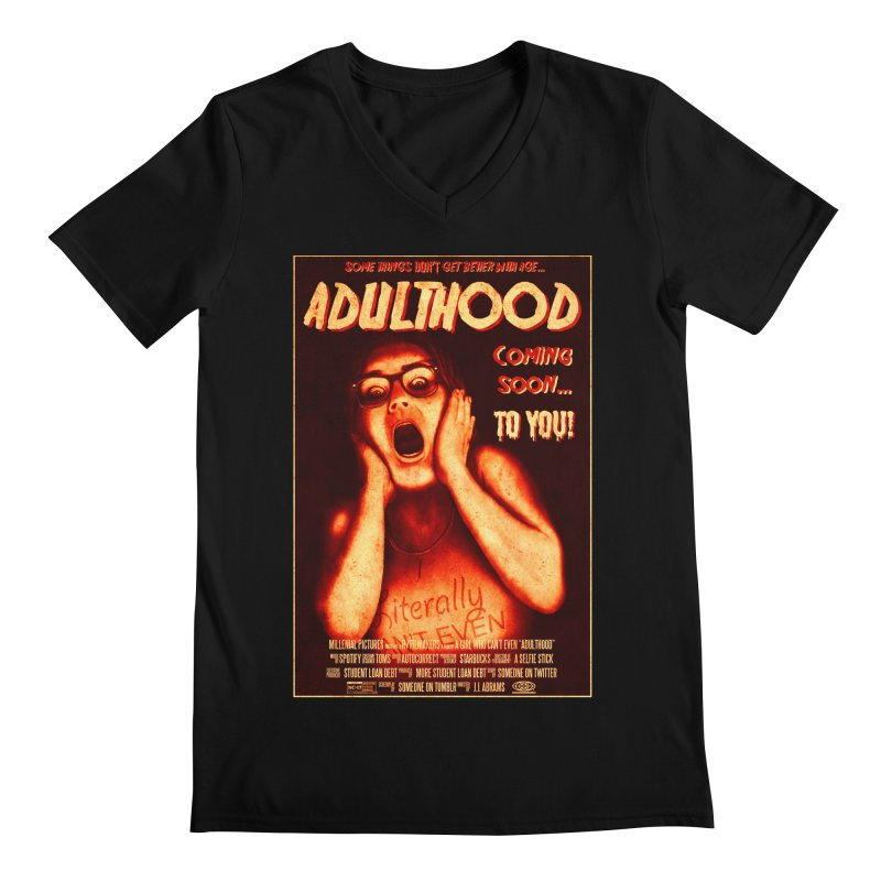 ADULTHOOD Men's Regular V-Neck by Den of the Wolf