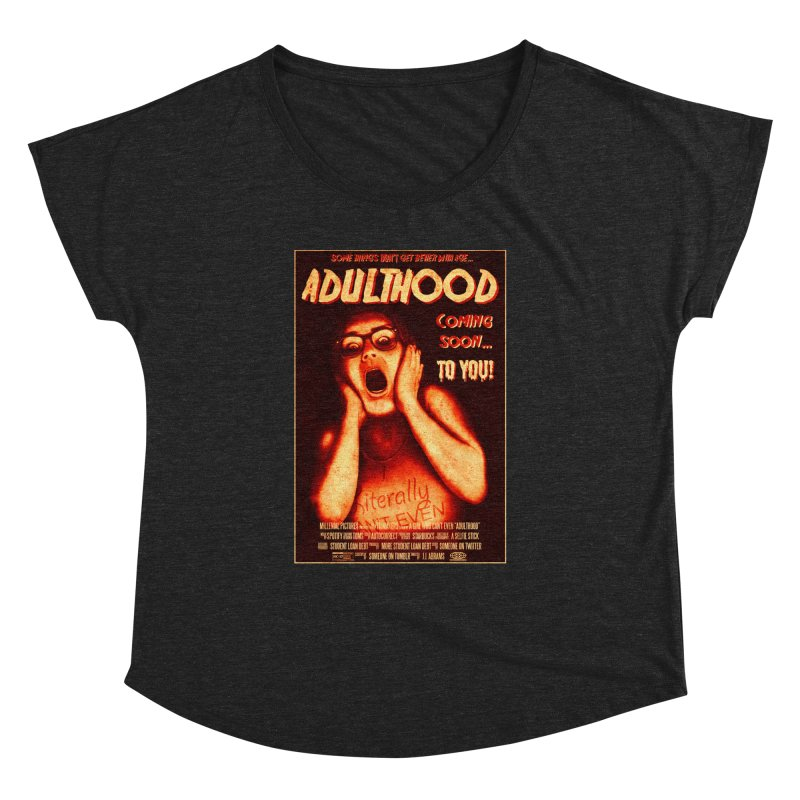ADULTHOOD Women's Dolman Scoop Neck by Den of the Wolf