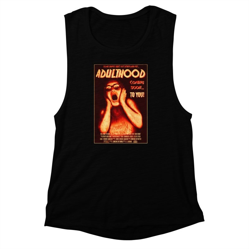ADULTHOOD Women's Muscle Tank by Den of the Wolf