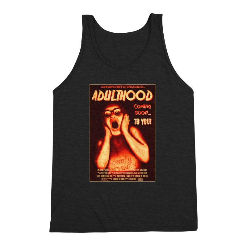 ADULTHOOD Men's Triblend Tank by Den of the Wolf