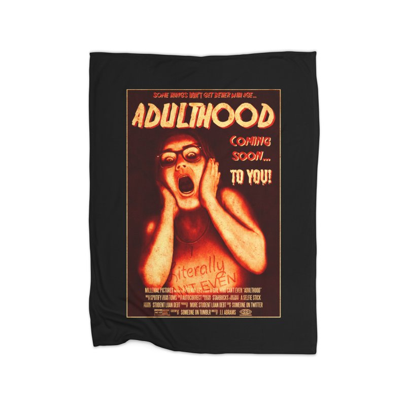 ADULTHOOD Home Fleece Blanket Blanket by Den of the Wolf