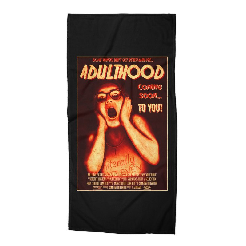 ADULTHOOD Accessories Beach Towel by Den of the Wolf