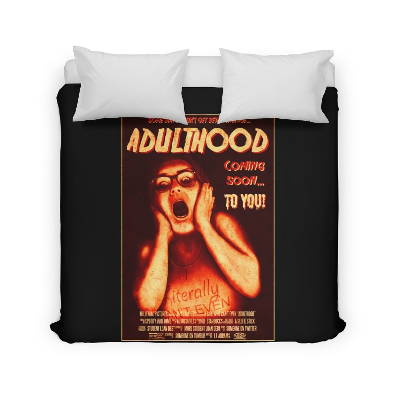 ADULTHOOD Home Duvet by Den of the Wolf