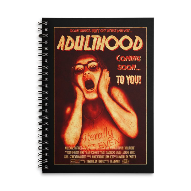 ADULTHOOD Accessories Lined Spiral Notebook by Den of the Wolf