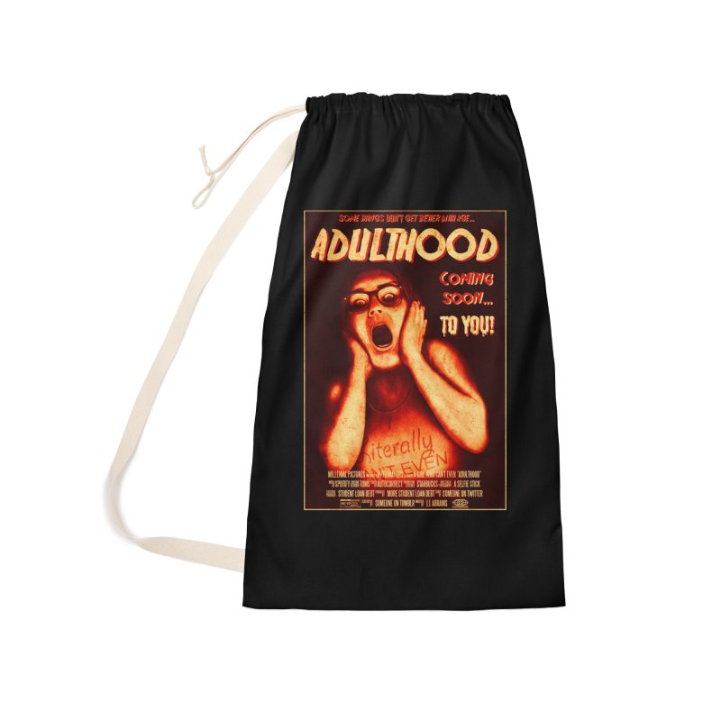 ADULTHOOD Accessories Laundry Bag Bag by Den of the Wolf