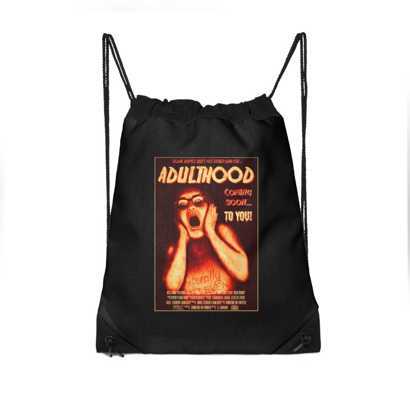 ADULTHOOD Accessories Drawstring Bag Bag by Den of the Wolf