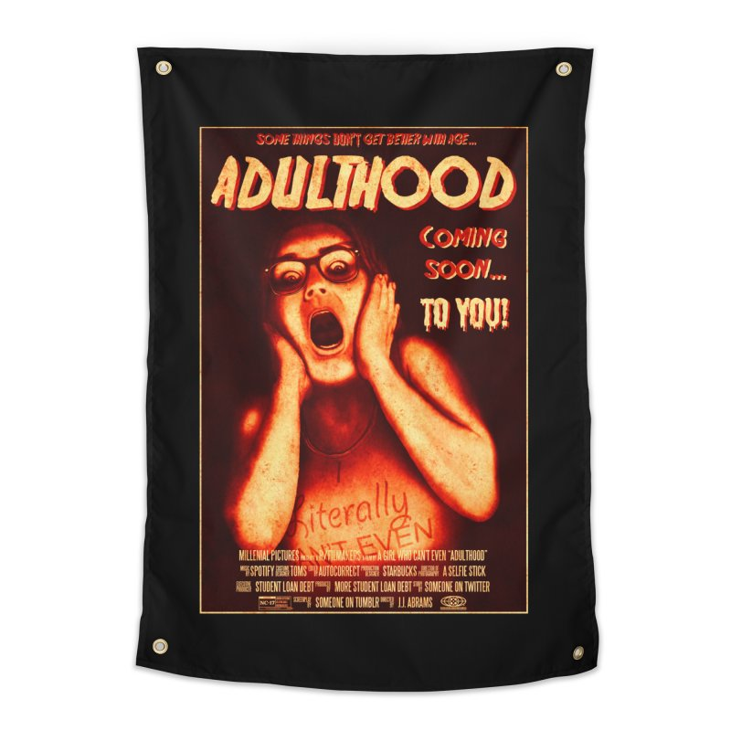 ADULTHOOD Home Tapestry by Den of the Wolf