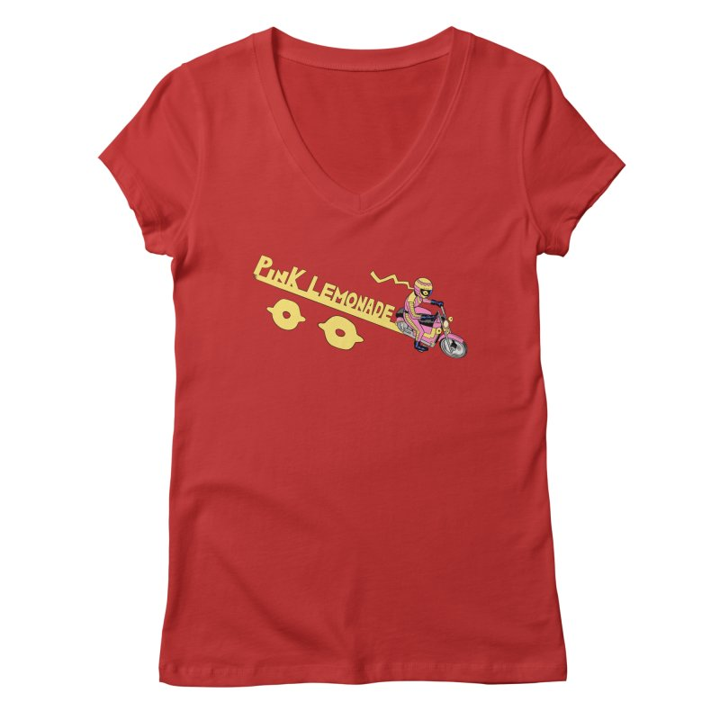 Riding the line Women's Regular V-Neck by Nick Cagnetti's Artist Shop