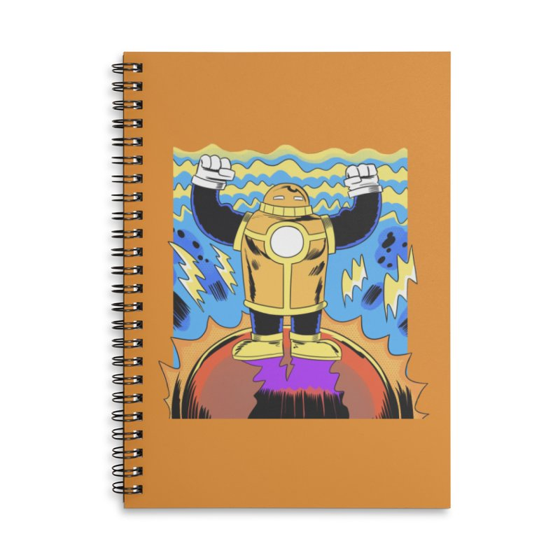 OJ-Bot Triumphant Accessories Lined Spiral Notebook by Nick Cagnetti's Artist Shop