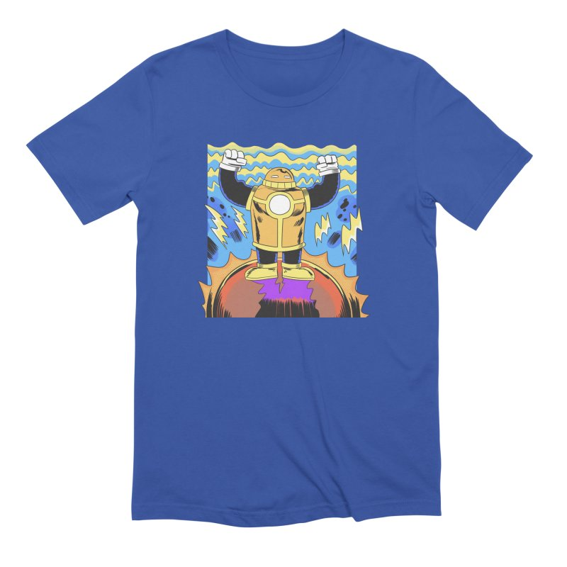 OJ-Bot Triumphant Men's T-Shirt by Nick Cagnetti's Artist Shop