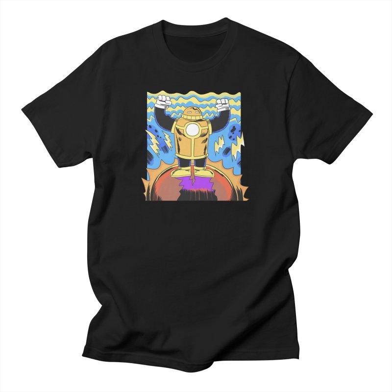 OJ-Bot Triumphant Men's T-Shirt by Nick Cagnetti's Artist Shop