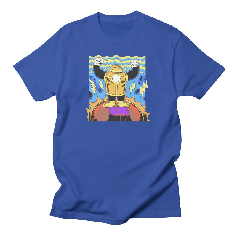 OJ-Bot Triumphant Men's Regular T-Shirt by Nick Cagnetti's Artist Shop