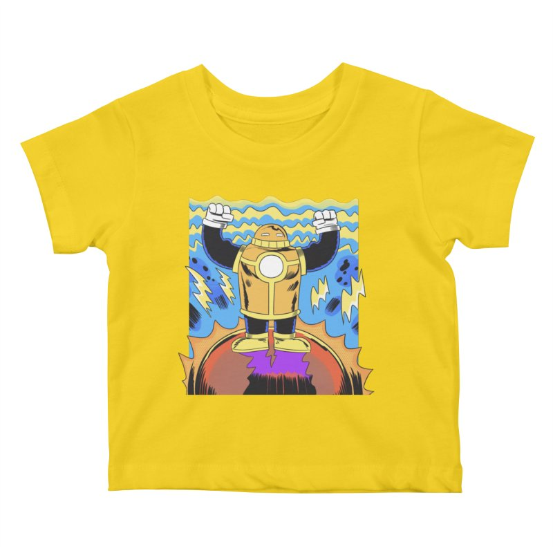 OJ-Bot Triumphant Kids Baby T-Shirt by Nick Cagnetti's Artist Shop