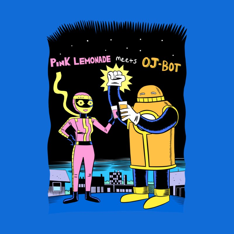 Pink Lemonade meets OJ-Bot Men's Sweatshirt by Nick Cagnetti's Artist Shop