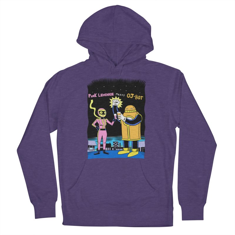 Pink Lemonade meets OJ-Bot Men's French Terry Pullover Hoody by Nick Cagnetti's Artist Shop