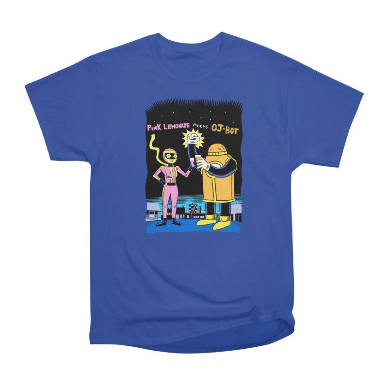 Pink Lemonade meets OJ-Bot Men's T-Shirt by Nick Cagnetti's Artist Shop