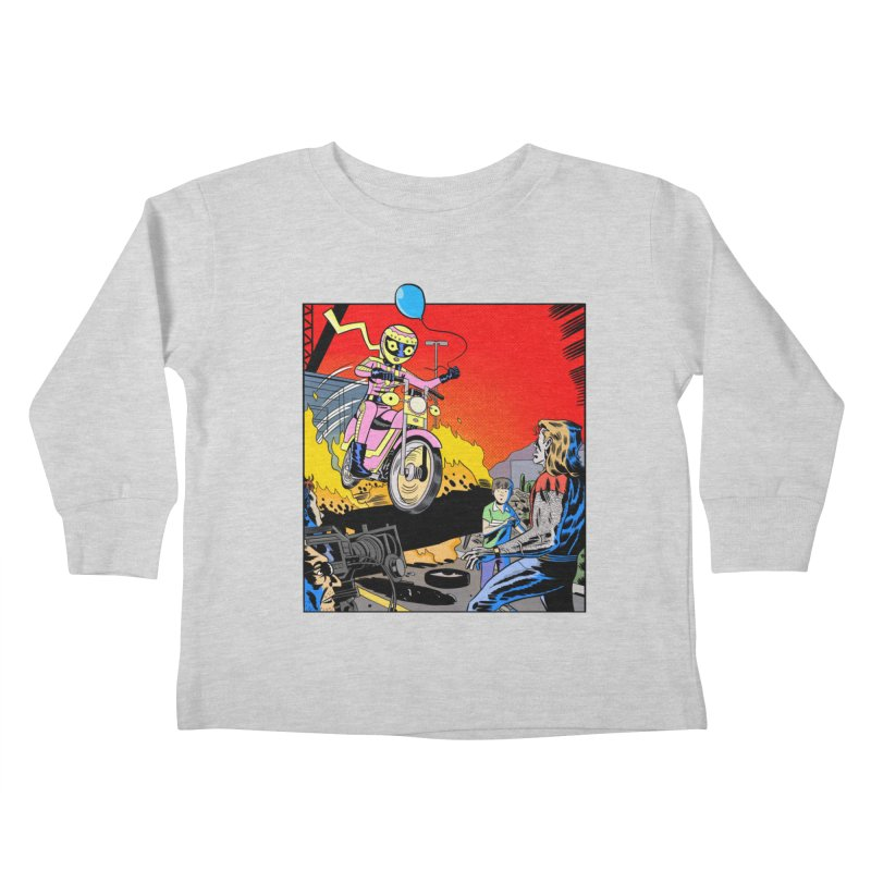 Pink Lemonade rides into your life like she is with this balloon. Kids Toddler Longsleeve T-Shirt by Nick Cagnetti's Artist Shop