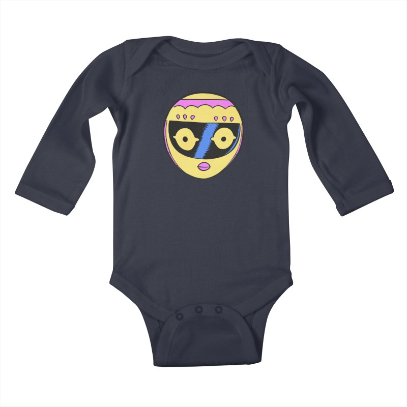Sleek helmet full color Kids Baby Longsleeve Bodysuit by Nick Cagnetti's Artist Shop