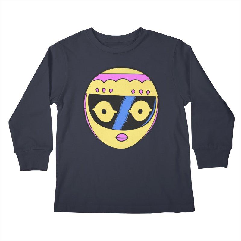 Sleek helmet full color Kids Longsleeve T-Shirt by Nick Cagnetti's Artist Shop