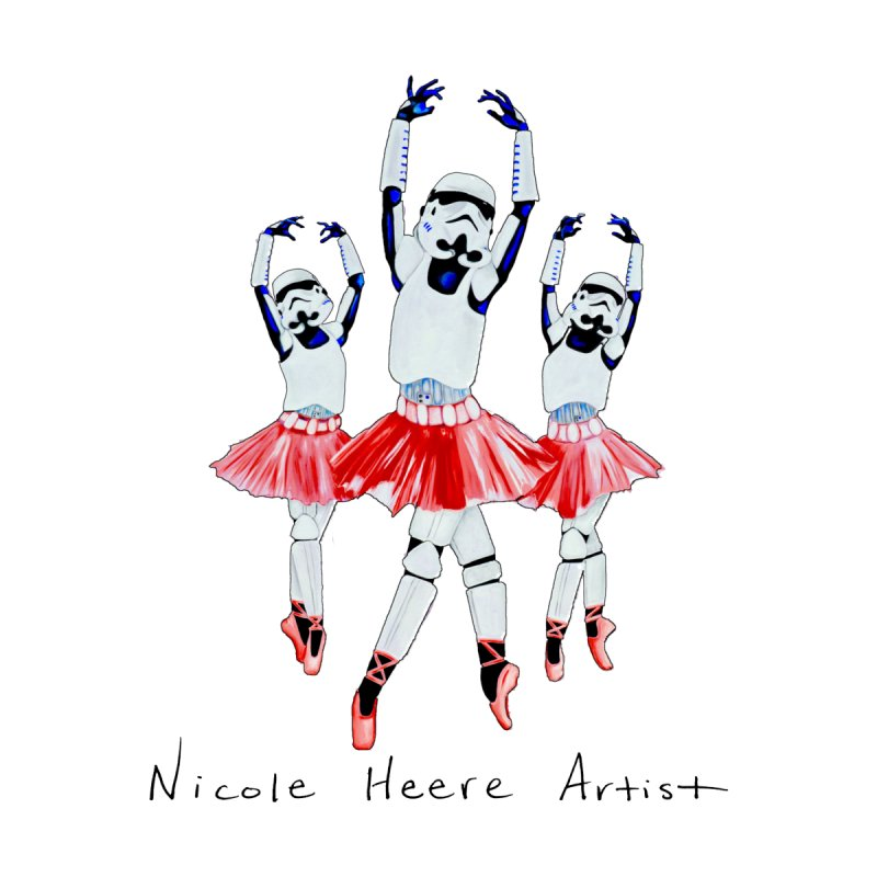 Stormtrooper Ballet Women's T-Shirt by NicoleHeere's Artist Shop