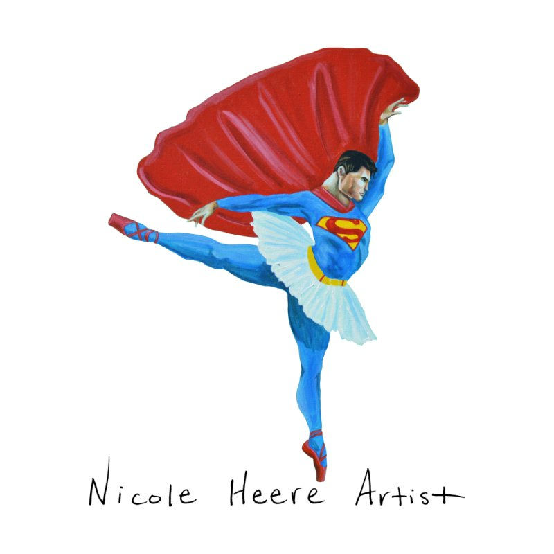 Superman Ballet Women's T-Shirt by NicoleHeere's Artist Shop