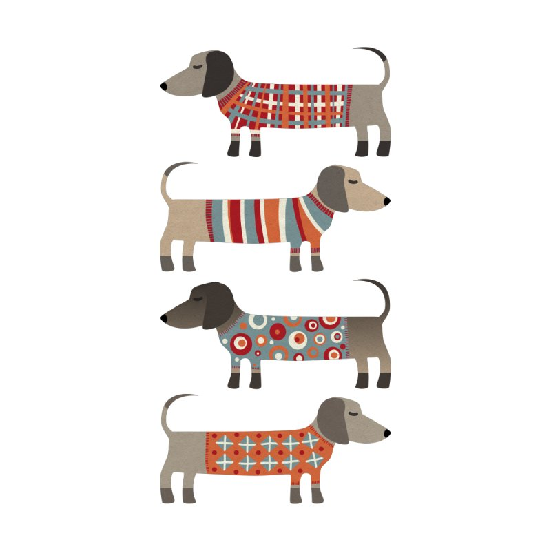 Sausage Dogs in Sweaters Women's Socks by Nic Squirrell