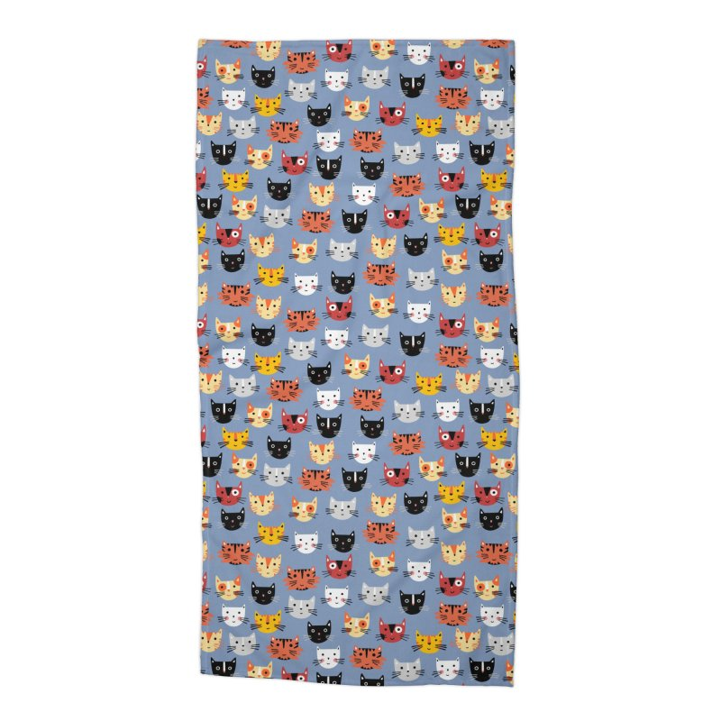 Multiple Cats Accessories Beach Towel by Nic Squirrell