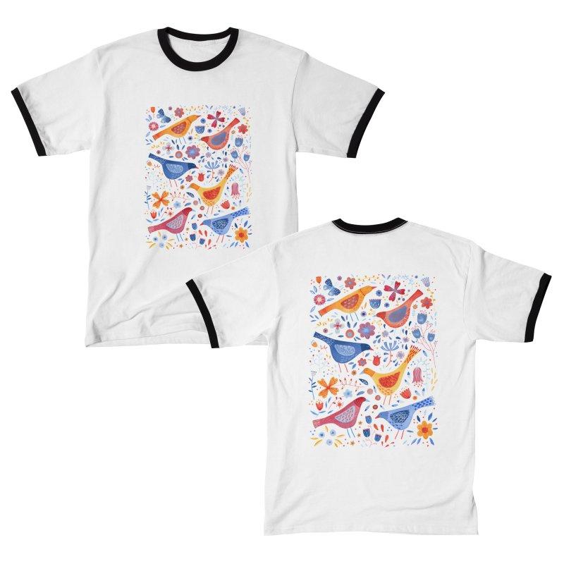 Birds in a Garden Men's T-Shirt by Nic Squirrell