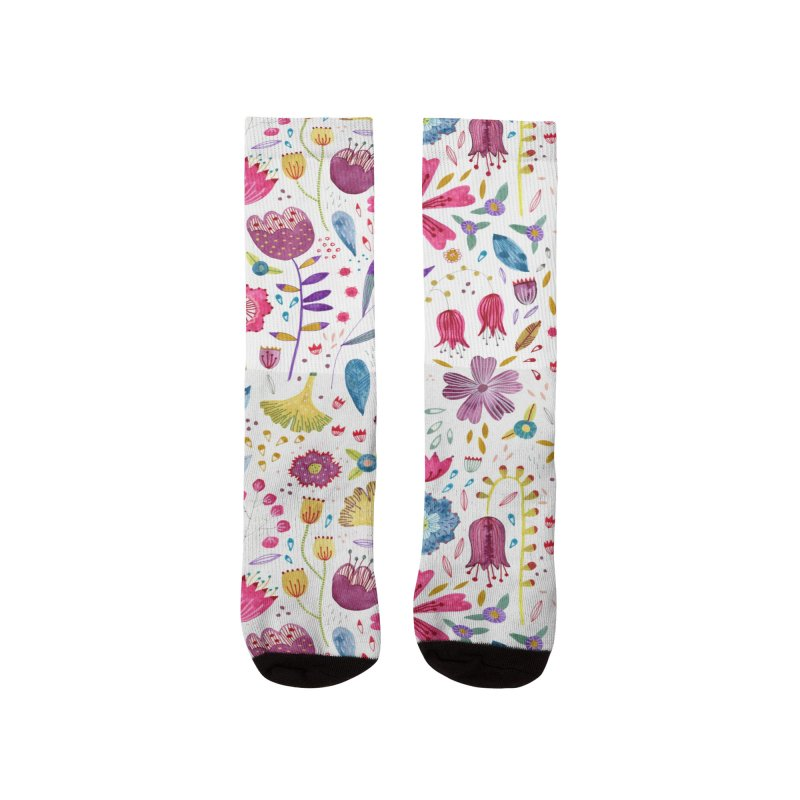 Autumn Hedgerow Flowers Women's Socks by Nic Squirrell