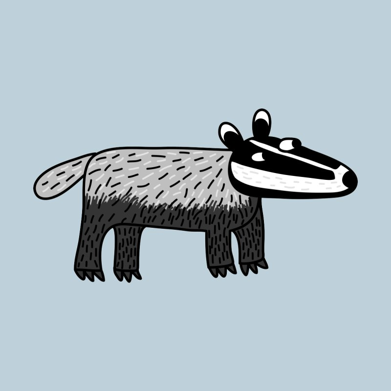Badger Men's T-Shirt by Nic Squirrell